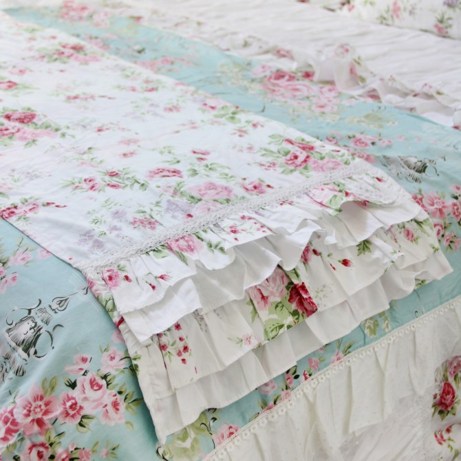 Ruffle Bed Runner