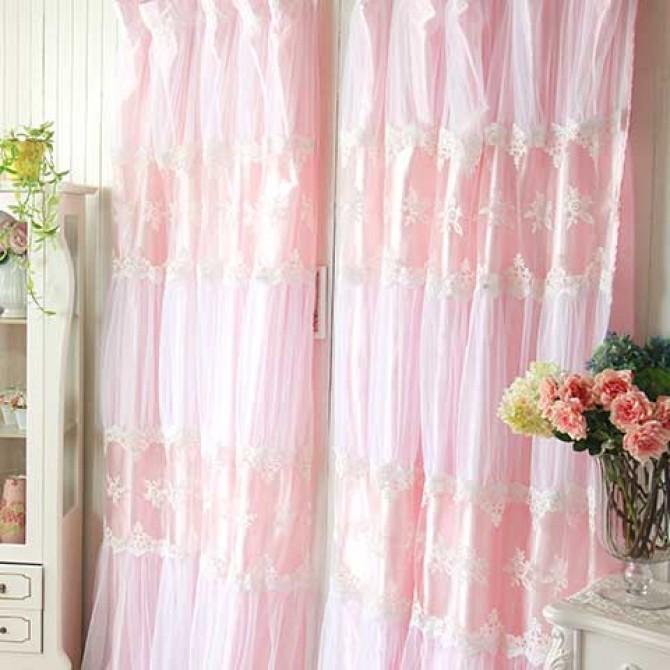 Pink Paris Dream Curtain Set
