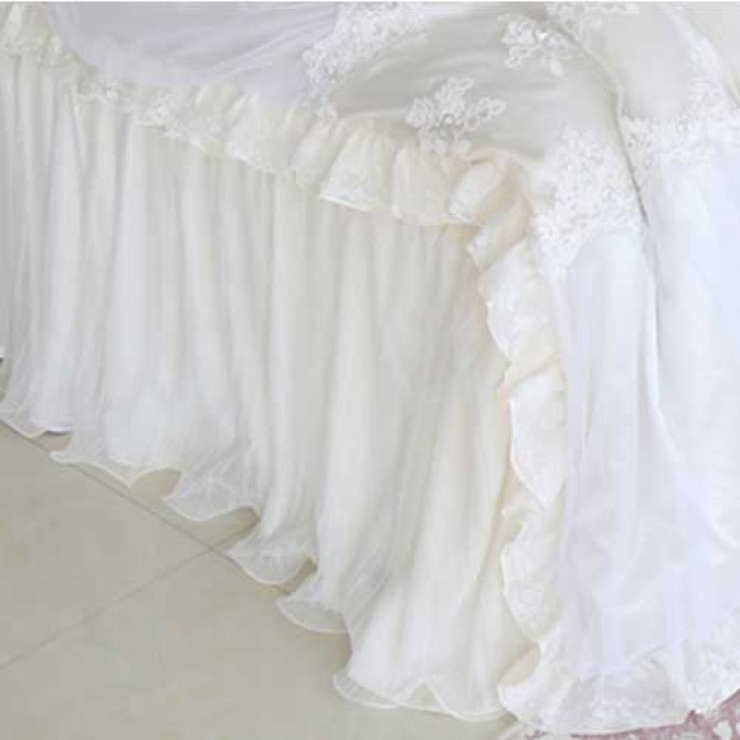 Paris Dream Wavy Bed Skirt
