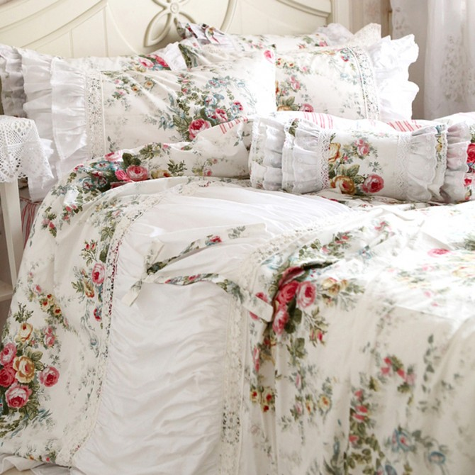 Royal Rose Garden Duvet Cover Set