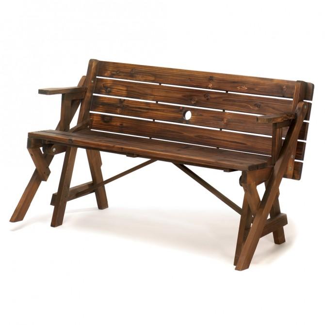 Rustic Convertible Garden Table