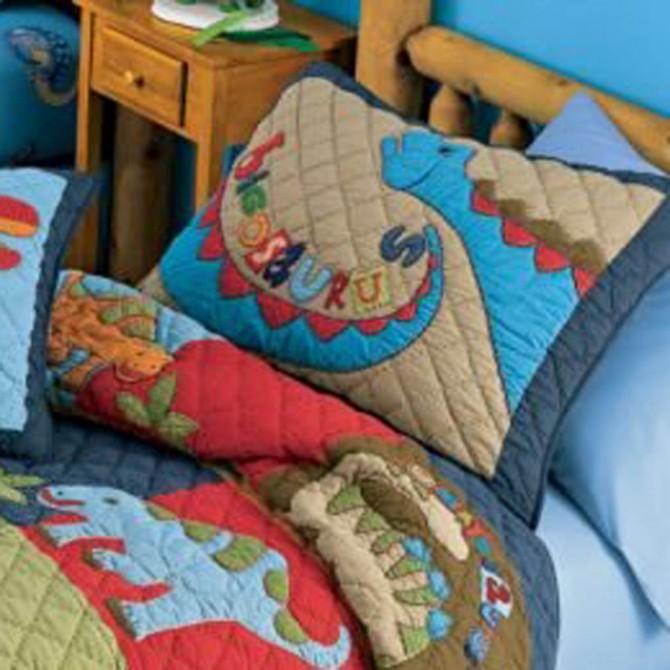 Scaryosaurus Dinosaur Pillow Sham