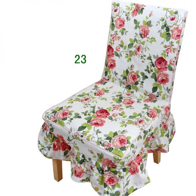 Shabby Chic Rose Chair Cover