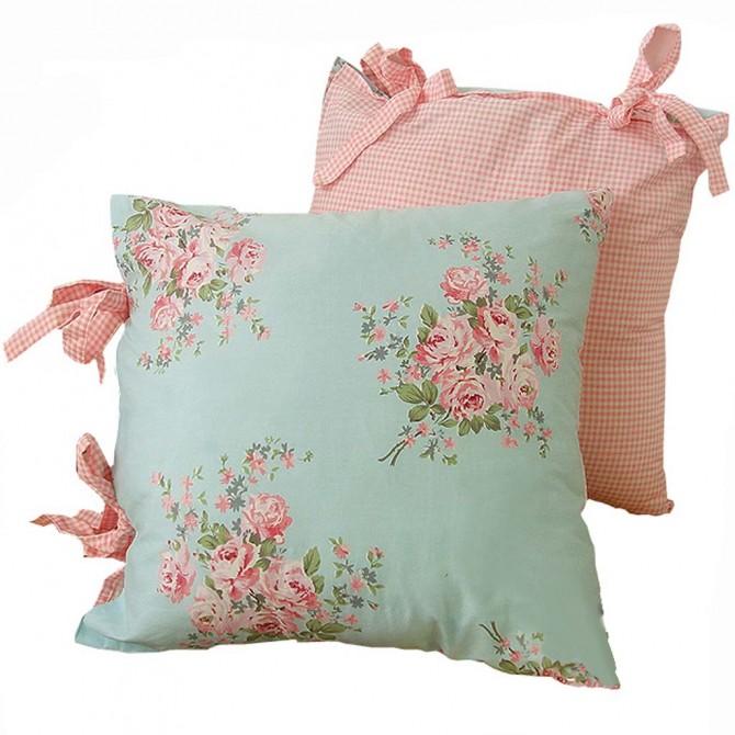 Shabby Bella Rose Cushion Cover
