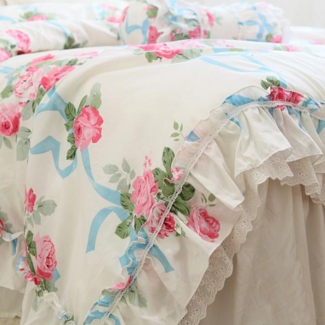 Rose Lace Duvet Cover Set