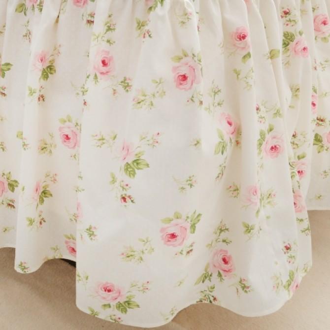 Cottage Rose Ruffle Bedskirt