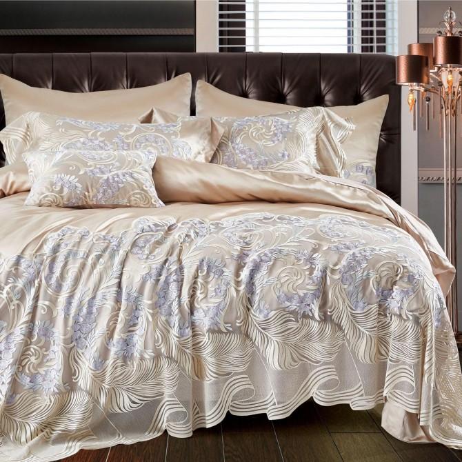 Ivory Vienna Lace Egyptian Cotton Duvet Cover Set