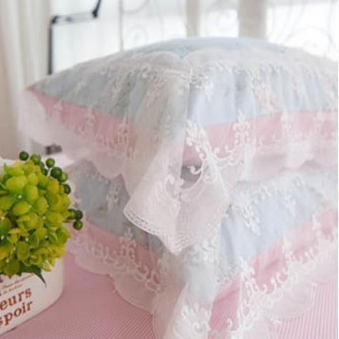 Elegant Rose Wide Lace Duvet Cover Set
