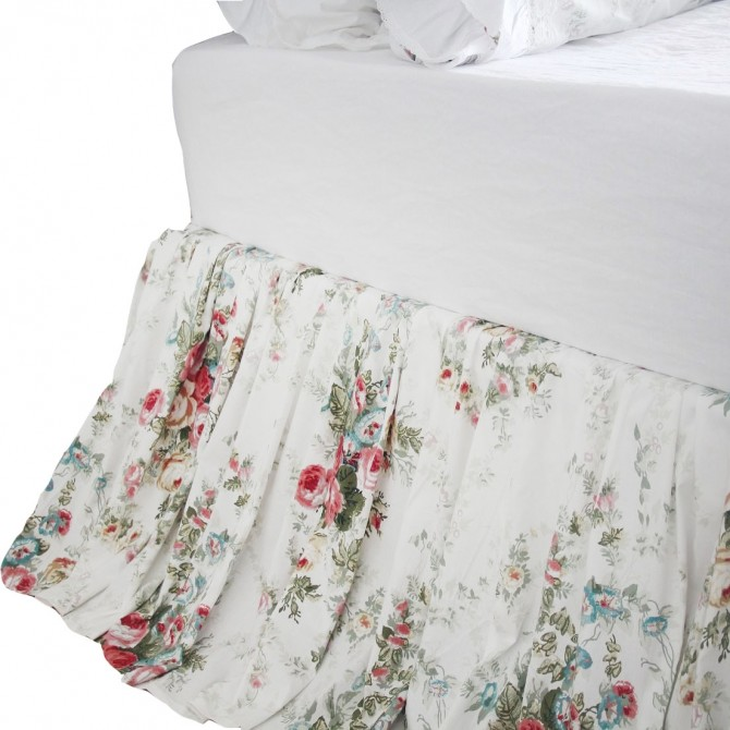 Royal Rose Garden Ruffle Bed Skirt