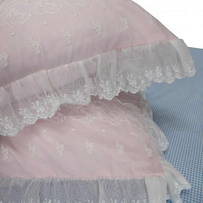 Lace Pink Pillow Sham