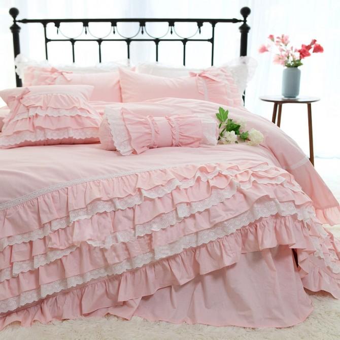 Romantic Ruffle Lace Duvet Cover Set