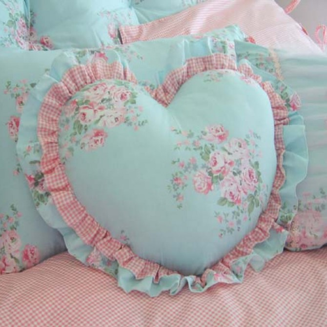 Shabby Chic Heart Pillow