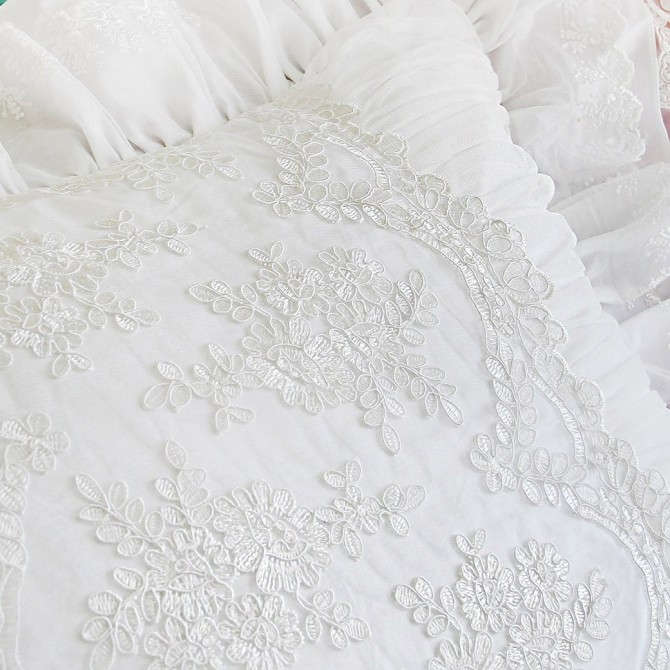 Romantic White Pillow Sham