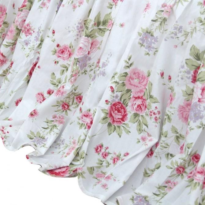 Shabby White Romance Bed Skirt