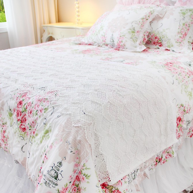 Lace Bed Runner