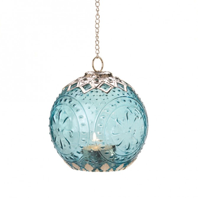 Small Aquamarine Globe Lantern