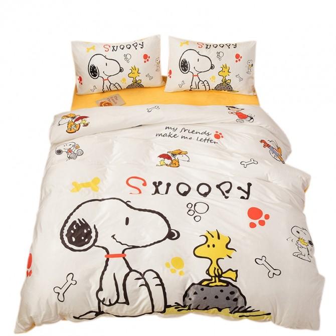 Snoopy Fleece Duvet Cover Set