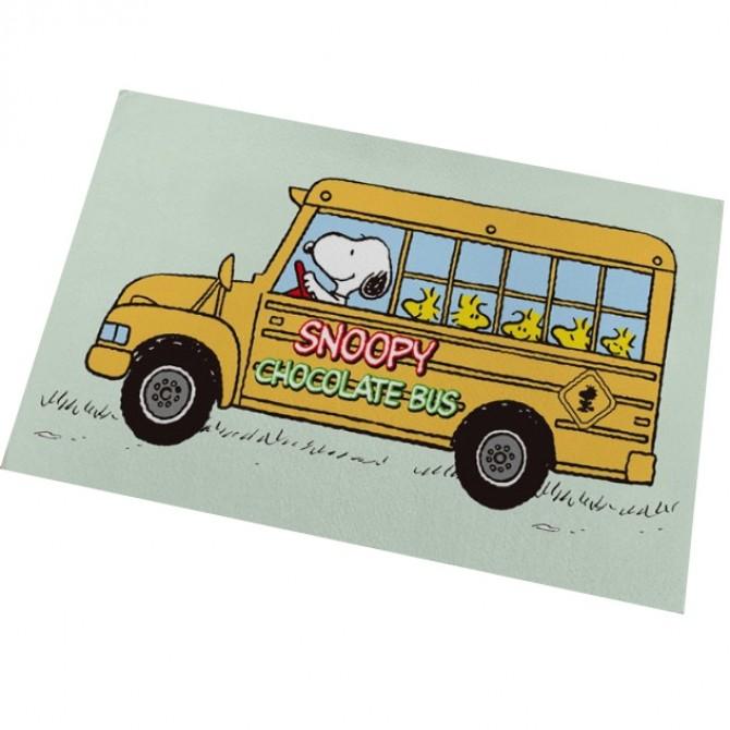 Peanuts Snoopy Chocolate Bus Floor Mat