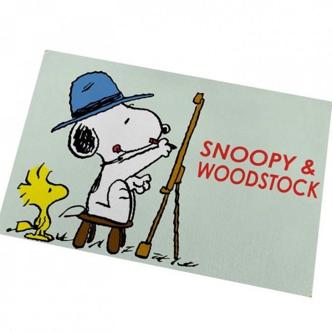 Peanuts Snoopy Painting Floor Mat