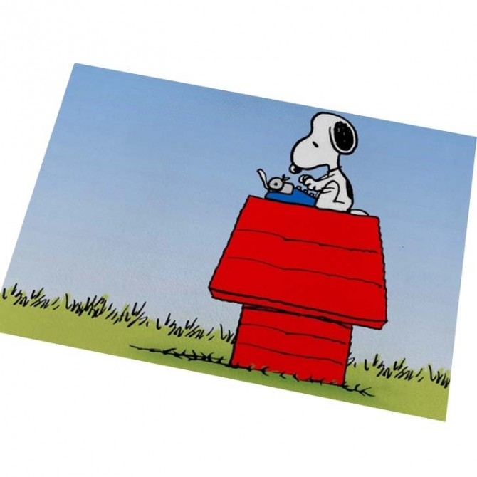 Peanuts Snoopy Red House Floor Mat
