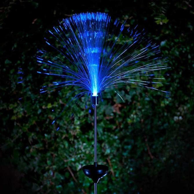 Outdoor Solar LED Fiber Optic Lamp
