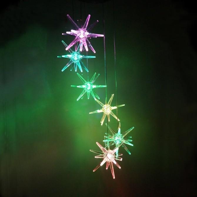 Solar Glow Clear Stars Lawn Night Light