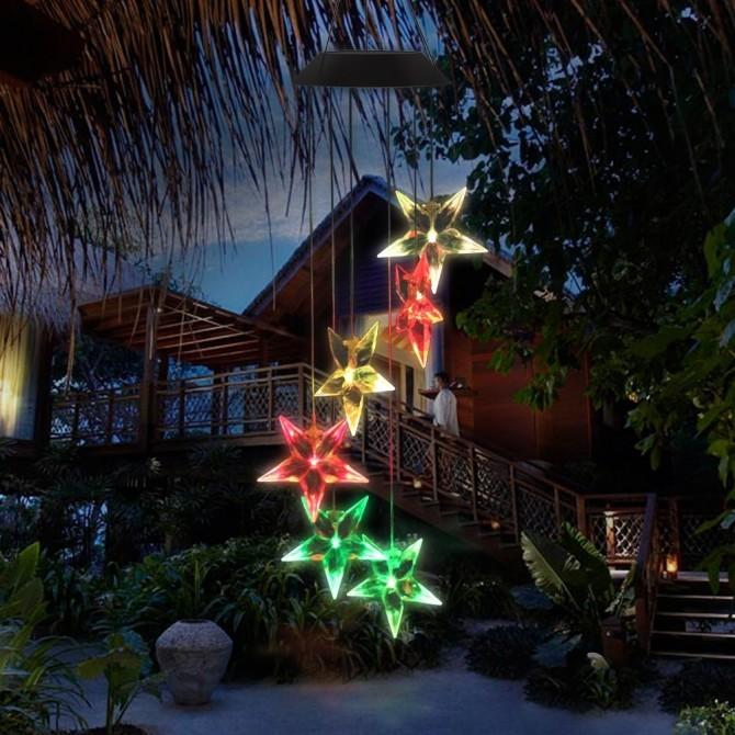 Solar Glow Stars Led Lawn Night Light