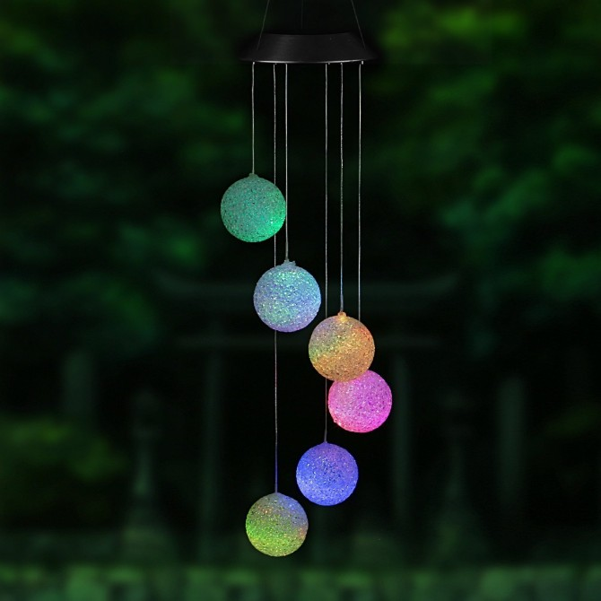 Solar Glow Ball Party Led Lawn Night Light