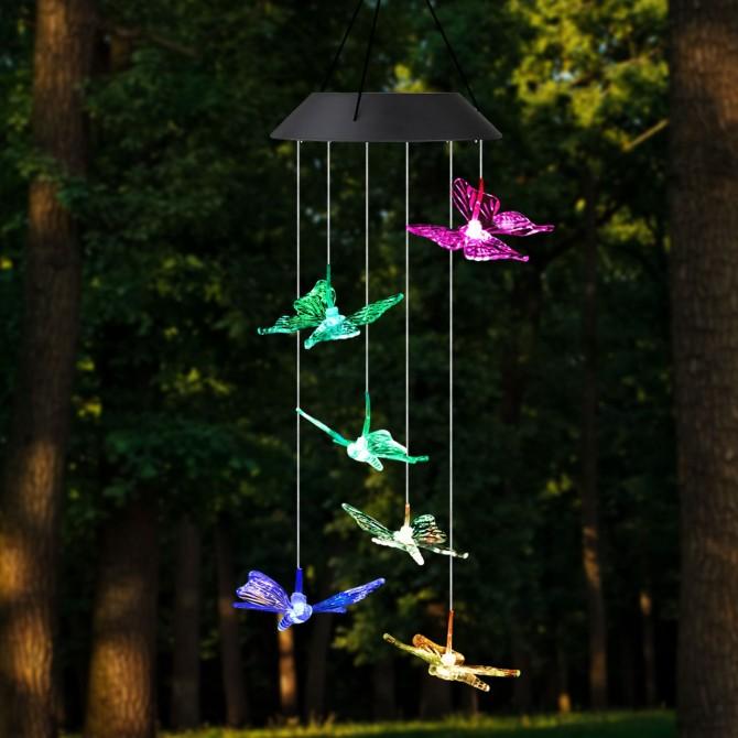 Solar Garden Hanging Butterfly Decoration Light