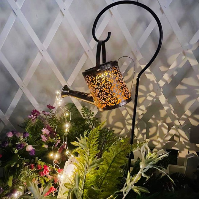 Solar Garden Light Watering Can Lantern