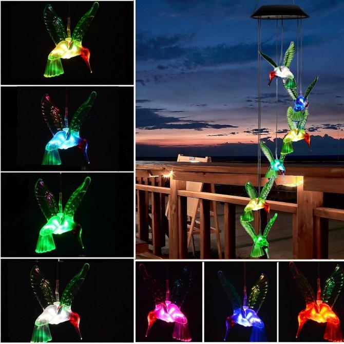 Solar Hummingbird Decor Led Night Light