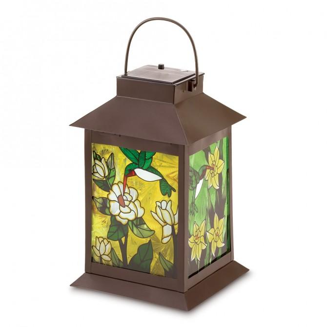 Solar Powered Floral Lantern