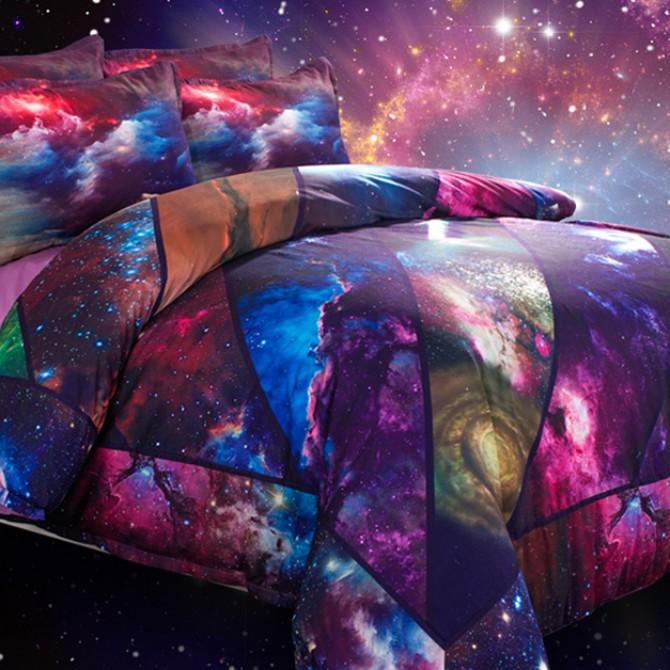Nebula Star Galaxy Space Duvet Cover Set