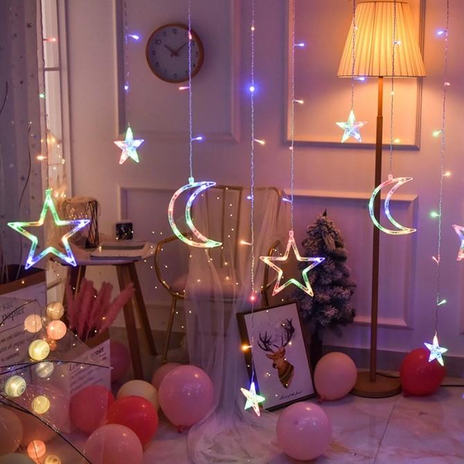 Sparkle Twinkle Stars Fairy String Lights-Romantic Night Light Indoor Light