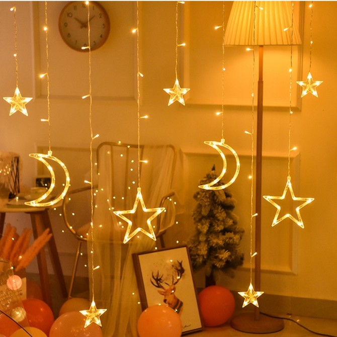 Sparkle Twinkle Stars Fairy String Lights-Romantic Night Light Indoor Light- Warm White
