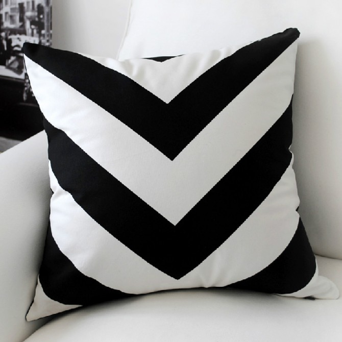 Zig Zag Stripe Cushion Cover