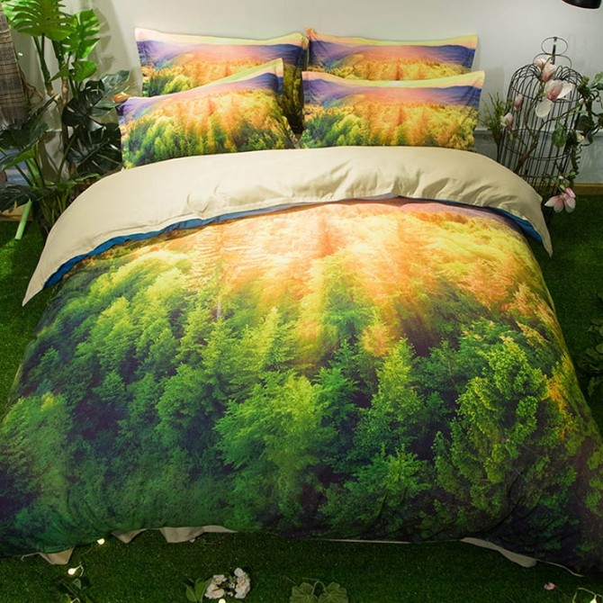 Sunlight Forest Duvet Cover Set