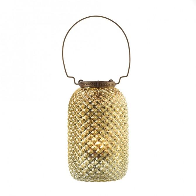 Tall Diamond Candle Lantern