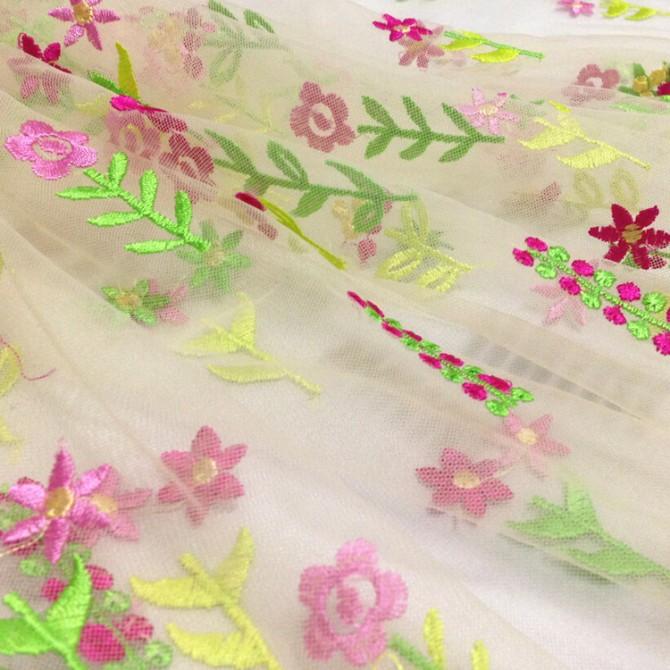 Spring Garden Sheer Fabric