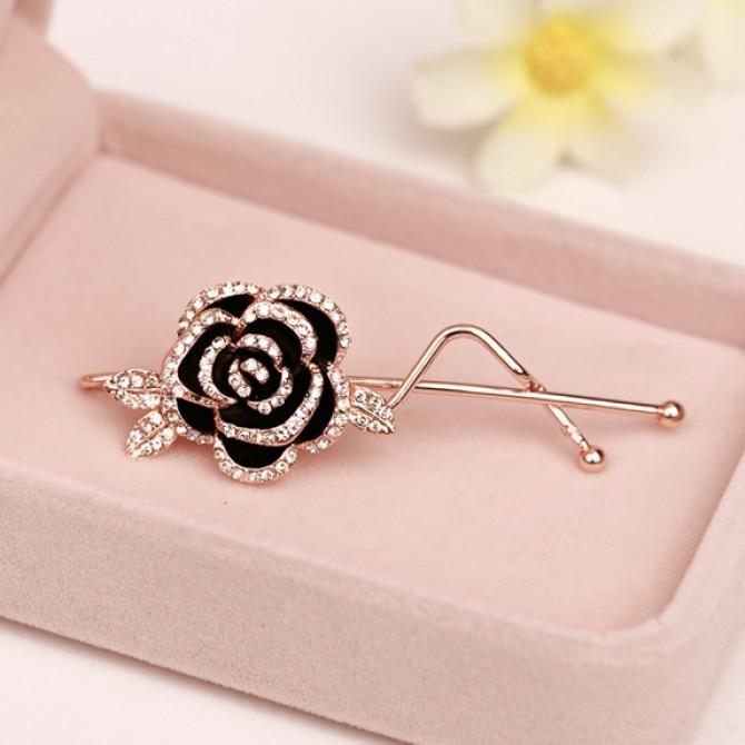 Crystal Rose Hair pins
