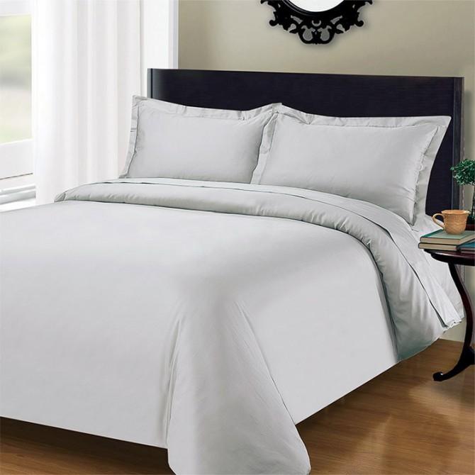 Light Grey 1000TC Cotton Bedding Set