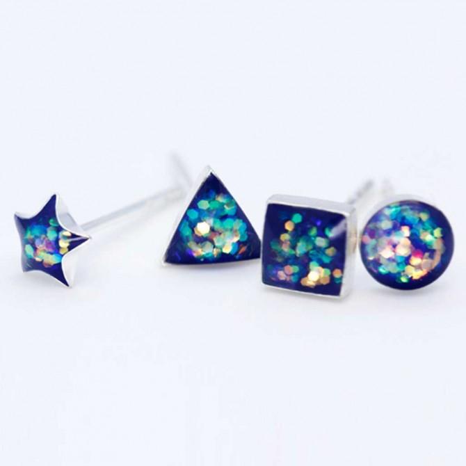 Fashion Sparkling Star Stud Earrings