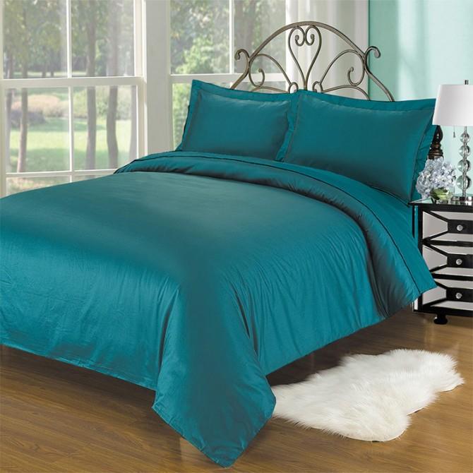 Teal 1000TC Cotton Bedding Set