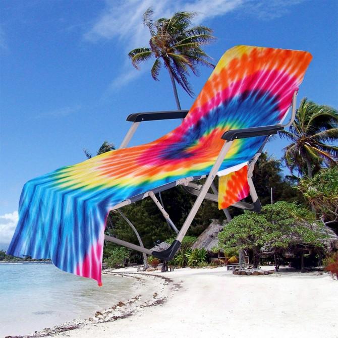 Tie Dye Beach Chair Chaise Chair Patio Chair Cover