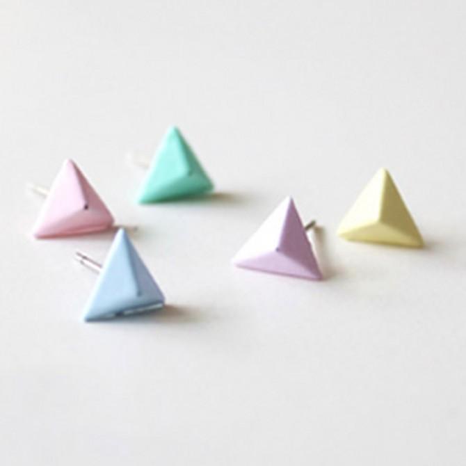 Triangle Glow in the Dark Earrings
