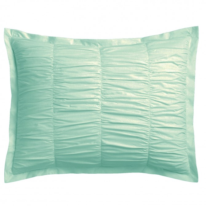 Luxury Turquoise Ruching Victorian Pillow Sham