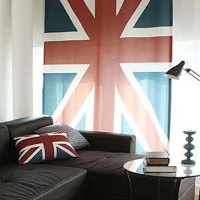 British Flag Curtain Panel