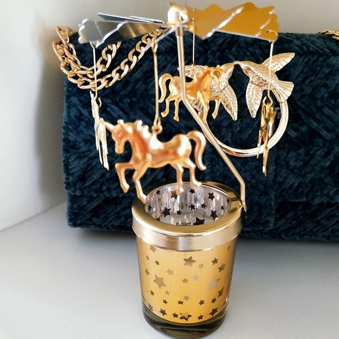 Unicorn Carousel Merry Go Round Candle Holder