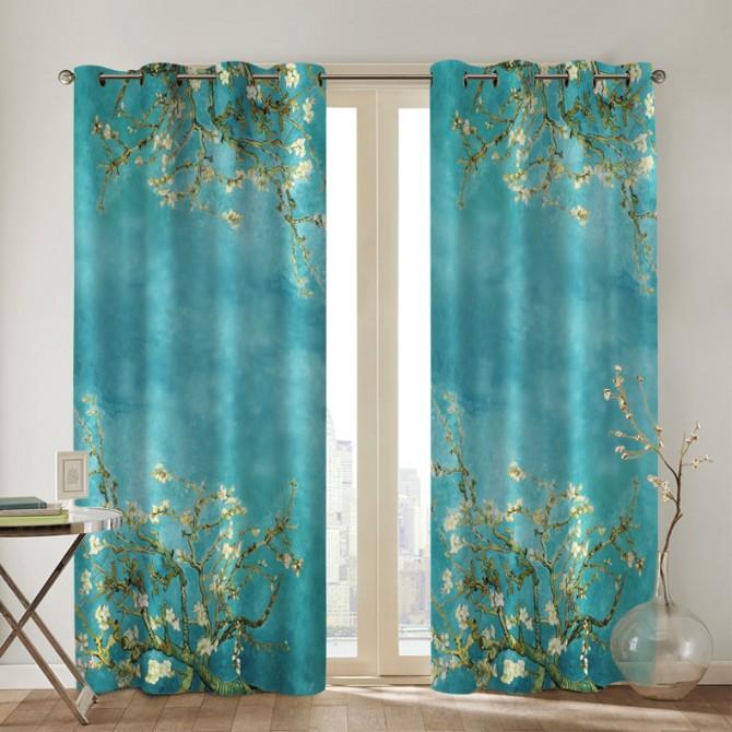 Van Gogh Almond Blossom Curtain Set