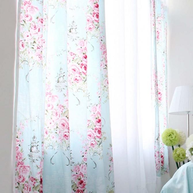 Victorian Rose Ruffle Curtain